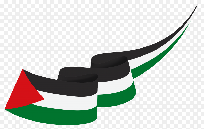 Waving flag of Palestine flag premium vector PNG