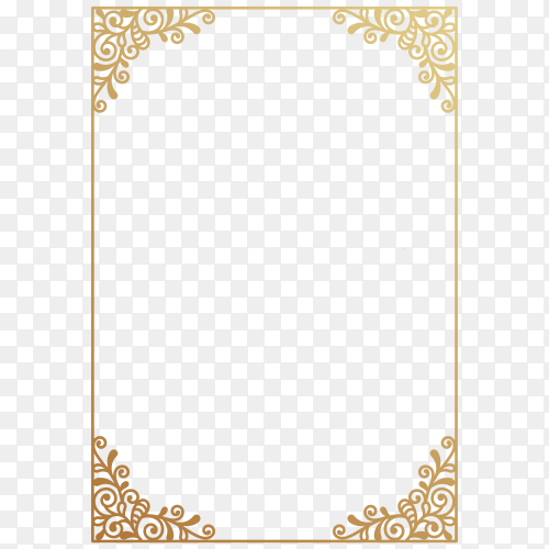 Wedding invitation or greeting card with ornament on transparent background PNG