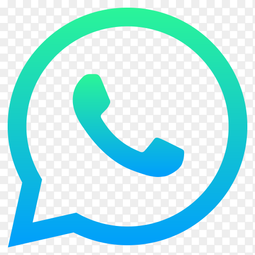 Whatsapp icon on transparent PNG