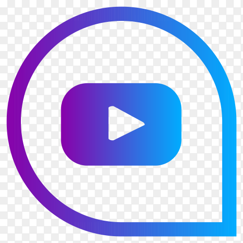 YouTube social media logo on transparent background PNG