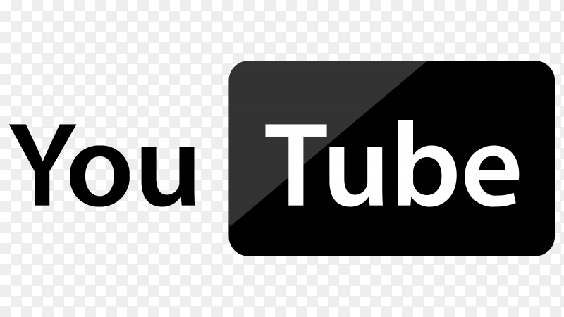 YouTube logo illustration on transparent background PNG