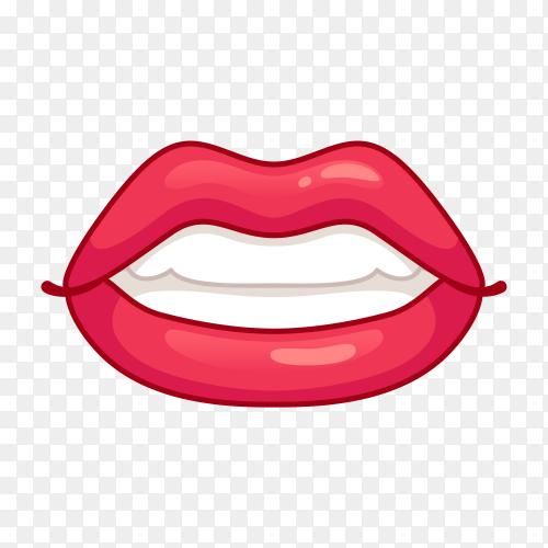 Beautiful smiling Lips premium vector PNG