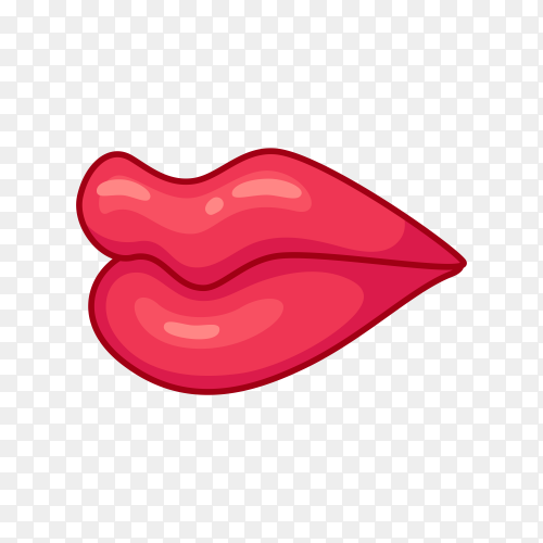 Female lips icon premium vector PNG