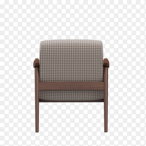 3d render of isometric chair isolated on transparent PNG
