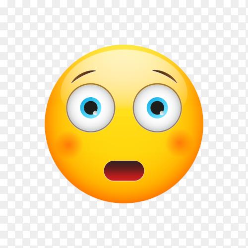 Astonished Face Emoji on transparent background PNG