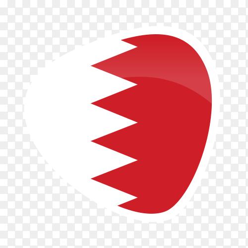 Bahrain flag on transparent background PNG