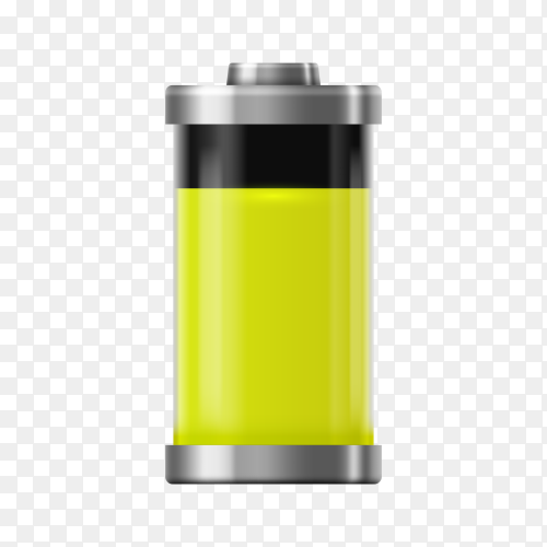 Battery charge icon on transparent background PNG