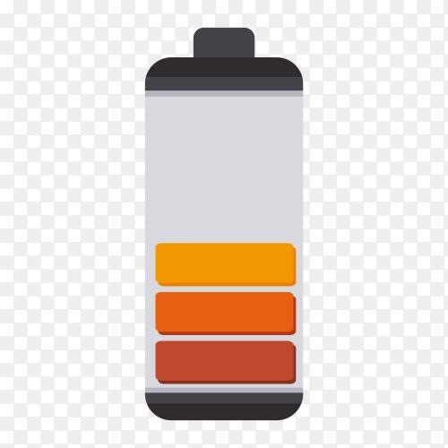 Battery design premium vector PNG