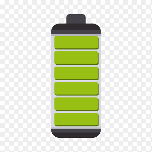 Battery icon design on transparent background PNG