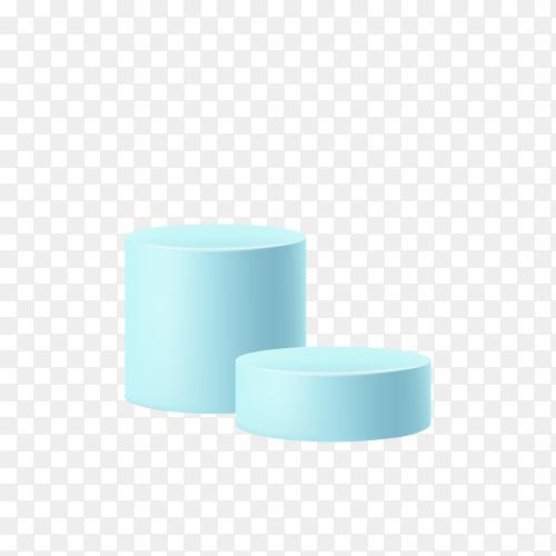 Blue podium illustration on transparent background PNG