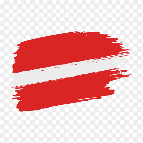 Brush stroke Austria flag on transparent background PNG