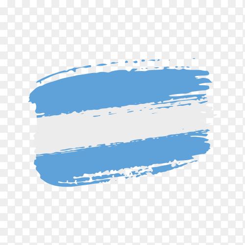 Brush stroke El Salvador flag on transparent background PNG