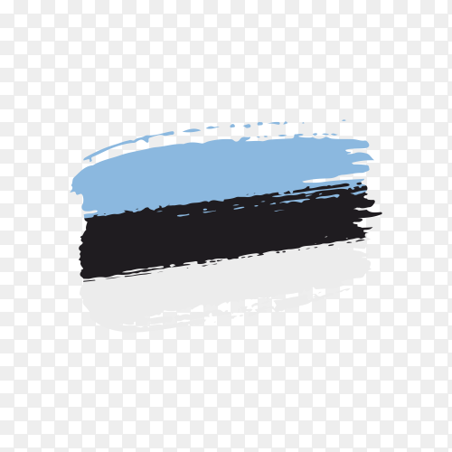 Brush stroke Estonia flag on transparent background PNG