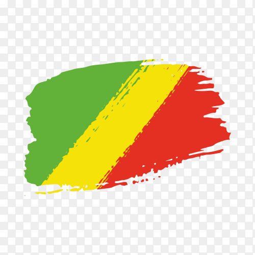 Brush stroke Mali flag on transparent background PNG