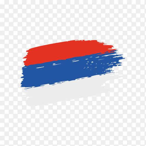 Brush stroke Serbia flag on transparent background PNG