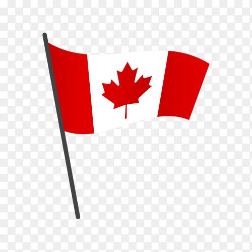 Canada flag illustration on transparent background PNG