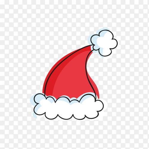 Cartoon Santa Claus hat on transparent PNG
