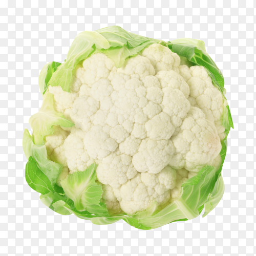 Cauliflower isolated on transparent background PNG
