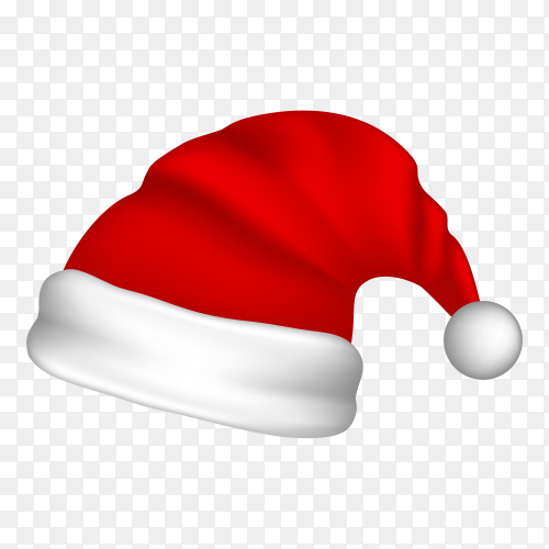 Christmas hat isolated on transparent background PNG