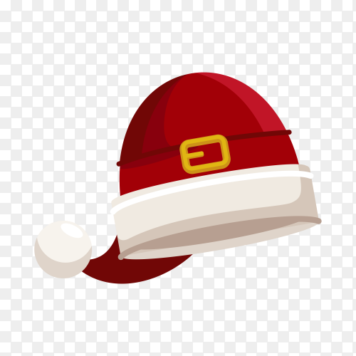 Christmas illustration with red Santa hat Clipart PNG