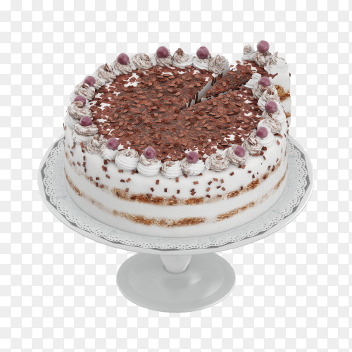 Delicious cake isolated on transparent background PNG