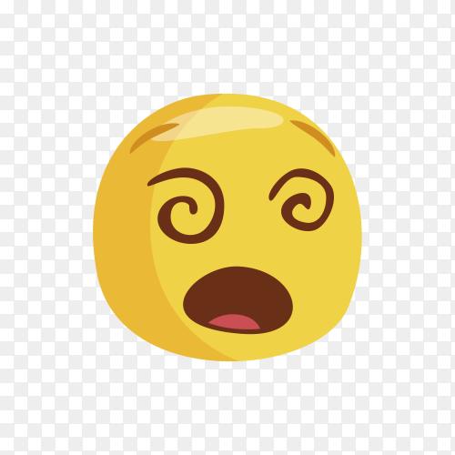 Dizzy Face Emoji Clipart PNG