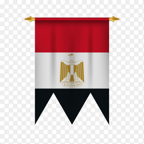 Egypt pennant illustration on transparent background PNG