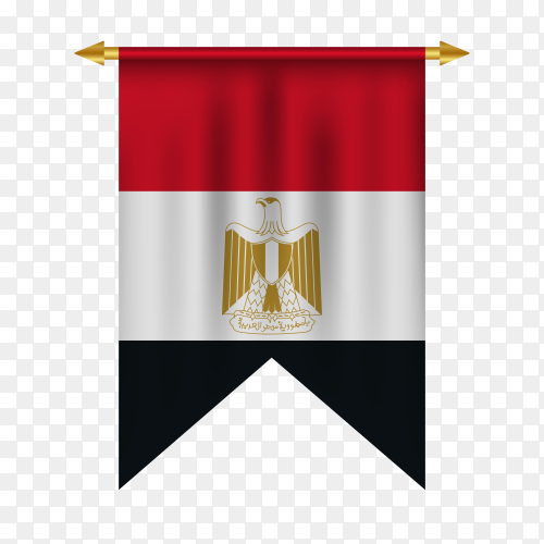 Egypt pennant isolated on transparent background PNG