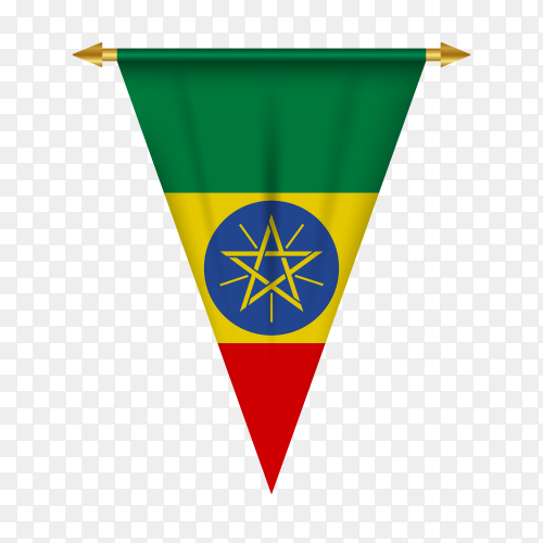 Ethiopia flag in different shape on transparent background PNG