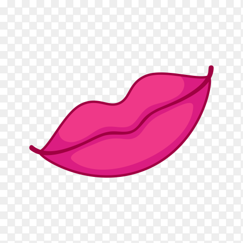 Female smile lips on transparent background PNG