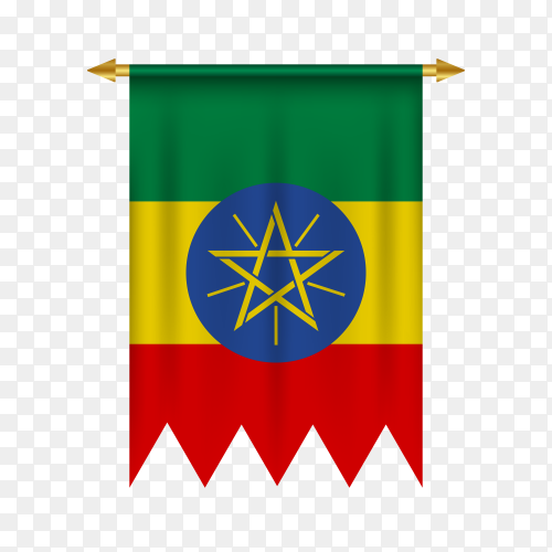 Flag of Ethiopia Clipart PNG