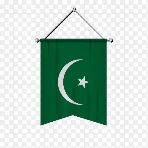 Flag of Mauritania on transparent background PNG