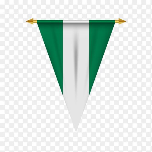 Flag of Nigeria premium vector PNG