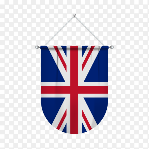 Flag of united kingdom Premium vector PNG