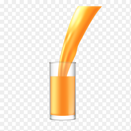 Fresh orange juice on transparent background PNG