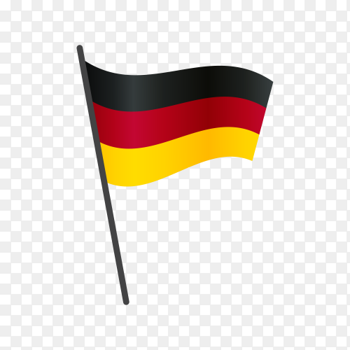 Germany flag illustration on transparent background PNG