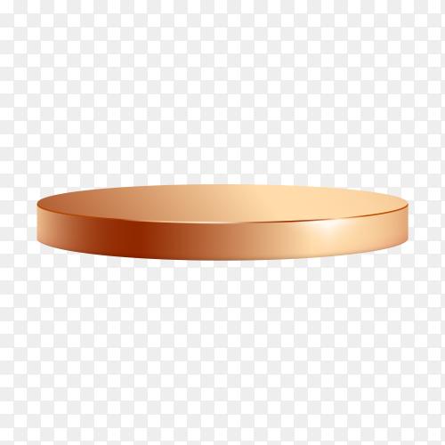 Golden podium illustration on transparent background PNG