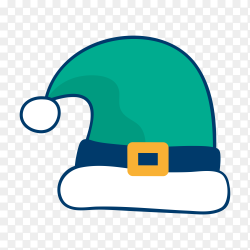 Hand drawing Santa Claus hat on transparent PNG