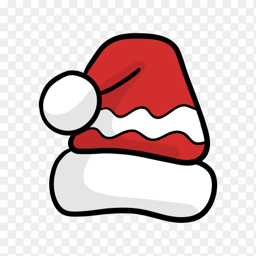 Hand drawn Santa's hat Clipart PNG