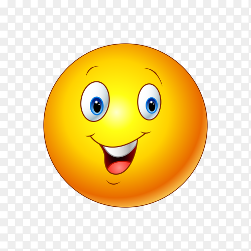 Happy Emoji face illustration Clipart PNG