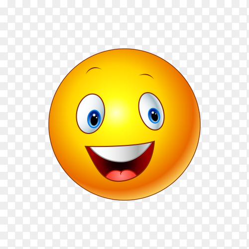 Happy face emoji isolated Clipart PNG