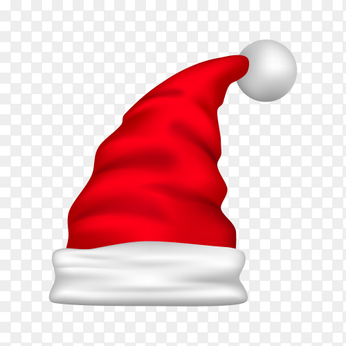 Hat of Santa Claus isolated Clipart PNG