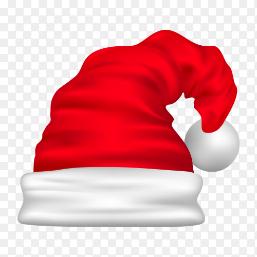 Hat of Santa Claus isolated on transparent background PNG