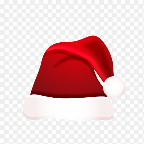 Hat of Santa Claus on transparent PNG