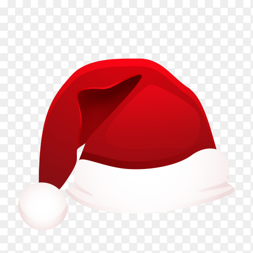Hat of Santa Claus premium vector PNG