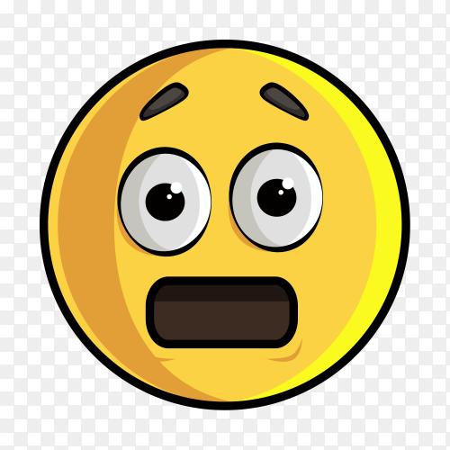 Hushed Face Emoji on transparent PNG