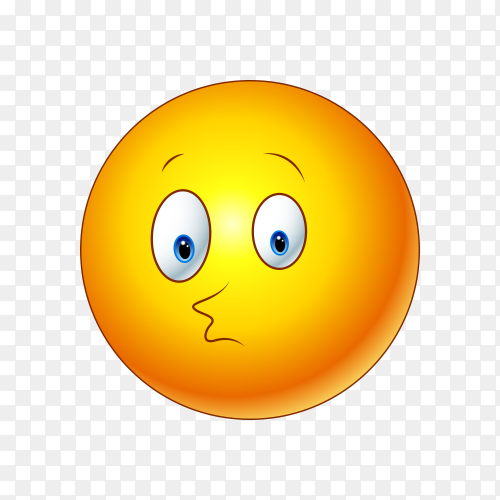 Illustration of Emoji face on transparent background PNG
