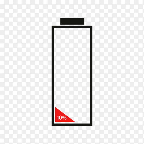 Illustration of battery charge icon on transparent background PNG
