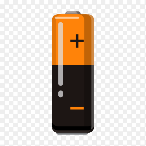 Illustration of battery design Clipart PNG