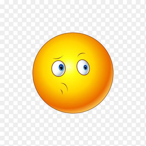 Illustration of cute emoji face premium vector PNG